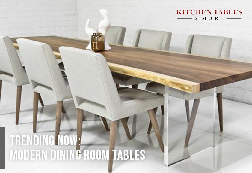 Modern Dining Room Sets Trending Now At Kitchen Tables And More Slab Dining Room Table Slab Dining Room Wood Slab Dining Table