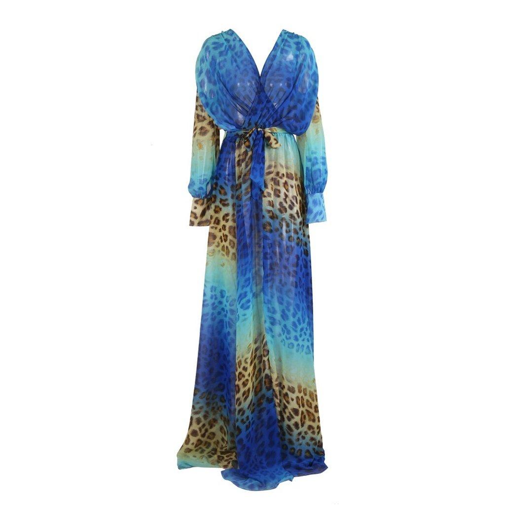Blue leopard maxi dress bag bagshop l highschool yley