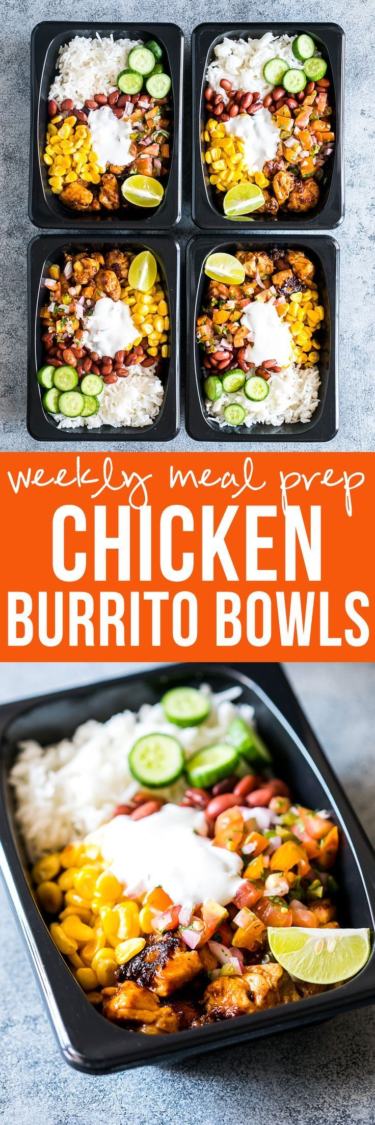 Easy Chicken Burrito Meal Prep Bowls Recipe Lunch Meal Prep