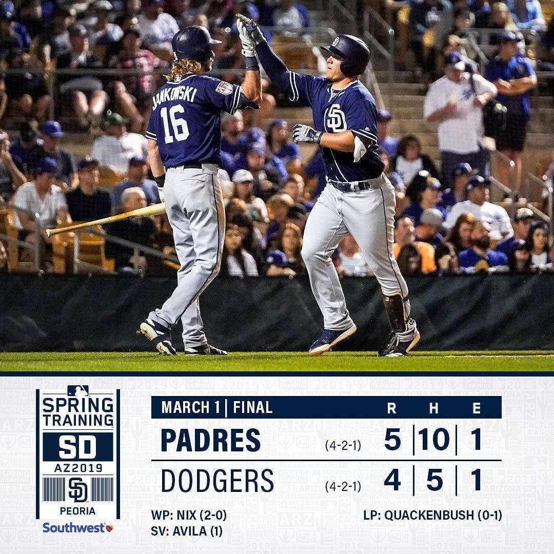 San Diego Padres Recap Luisurias97 Goes 3 For 3 Jp 2838 Tyfrance Homer In Padresst Win O Recap Luisurias San Diego Padres Padres Mlb Nationals
