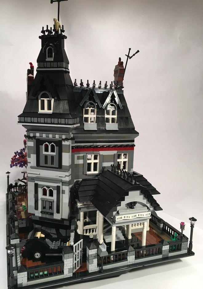 Lego Addams Family Mansion Lego Mansion Lego Haunted House Lego House