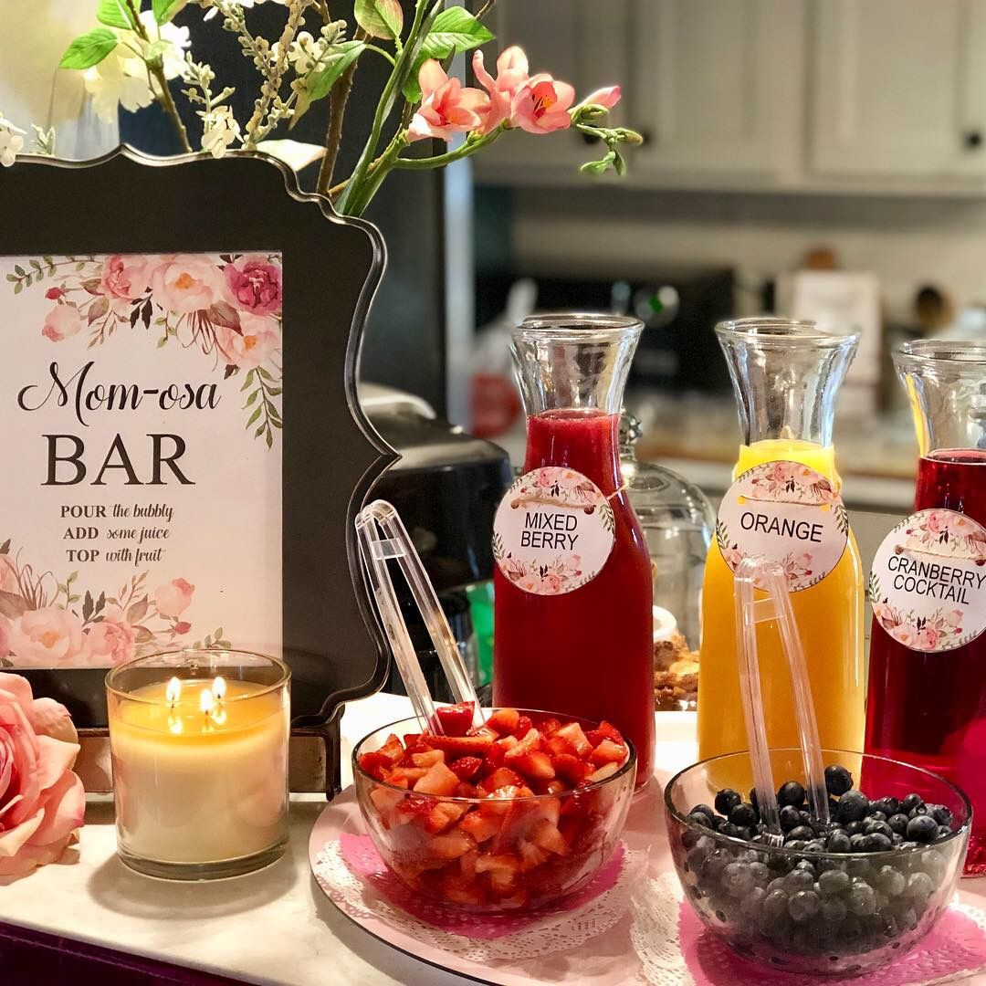 Mimosa Bar For Baby Shower Mimosa Bar Baby Shower Mimosa Bar Dino Baby Shower