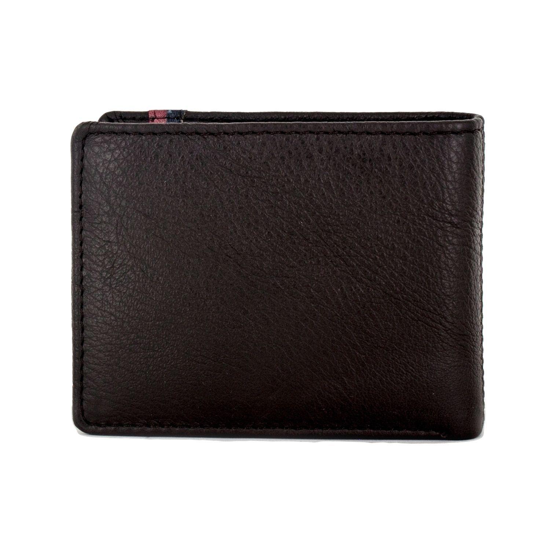 Faddism Men's Mission Black Bifold Wallet