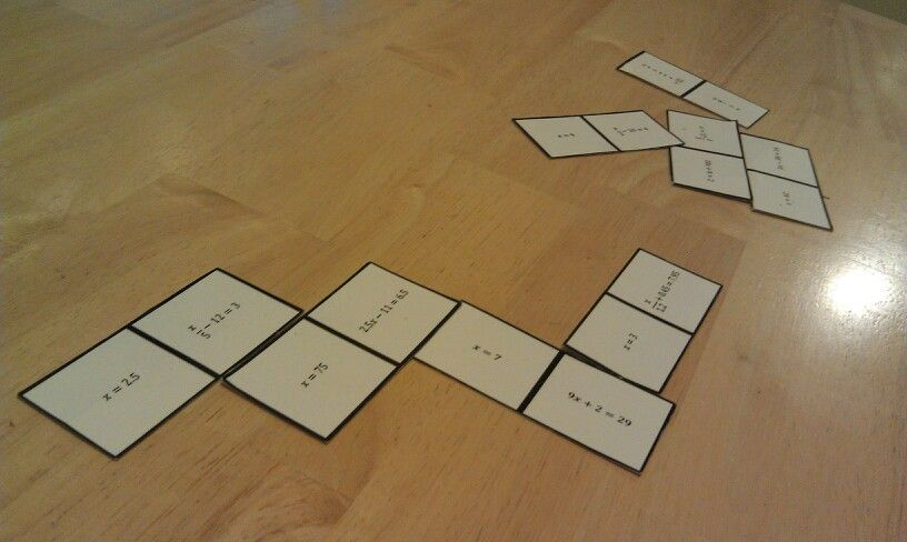 Here is another domino activity. This is a great for all kinds of problem solving, and was perfect for our #mathstations on two-step equations!