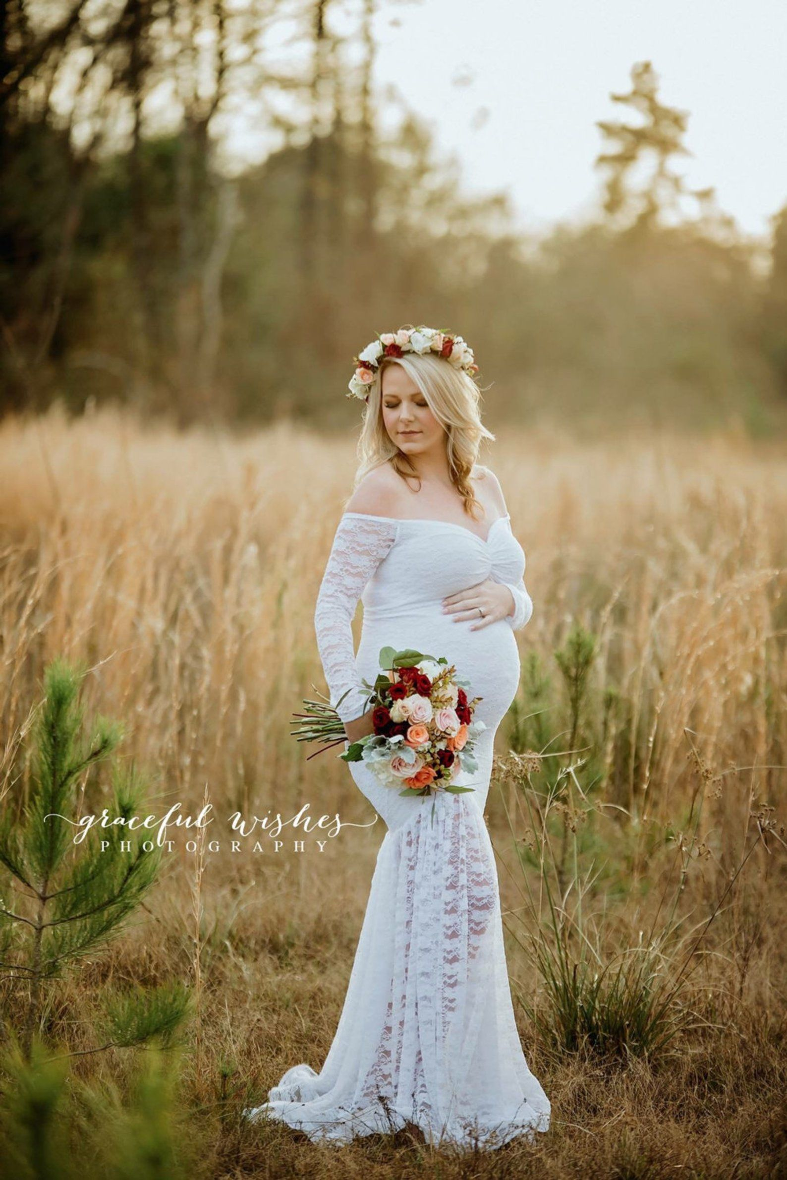 Maternity Wedding Dress Maternity Gown Mermaid Maternity Etsy Pregnant Wedding Dress Lace Maternity Wedding Dresses Pregnant Wedding [ jpg ]