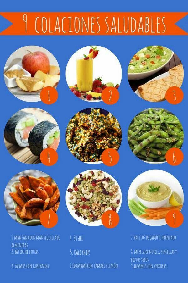 Colaciones saludables comidas light pinterest comidas - Alimentos saludables para embarazadas ...