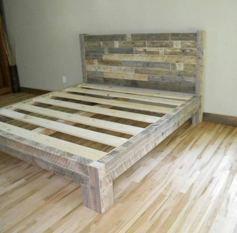 King Bed Frame Design Pin By Theresa Frank On Crafts For Rainy Days Diy Pallet Bed