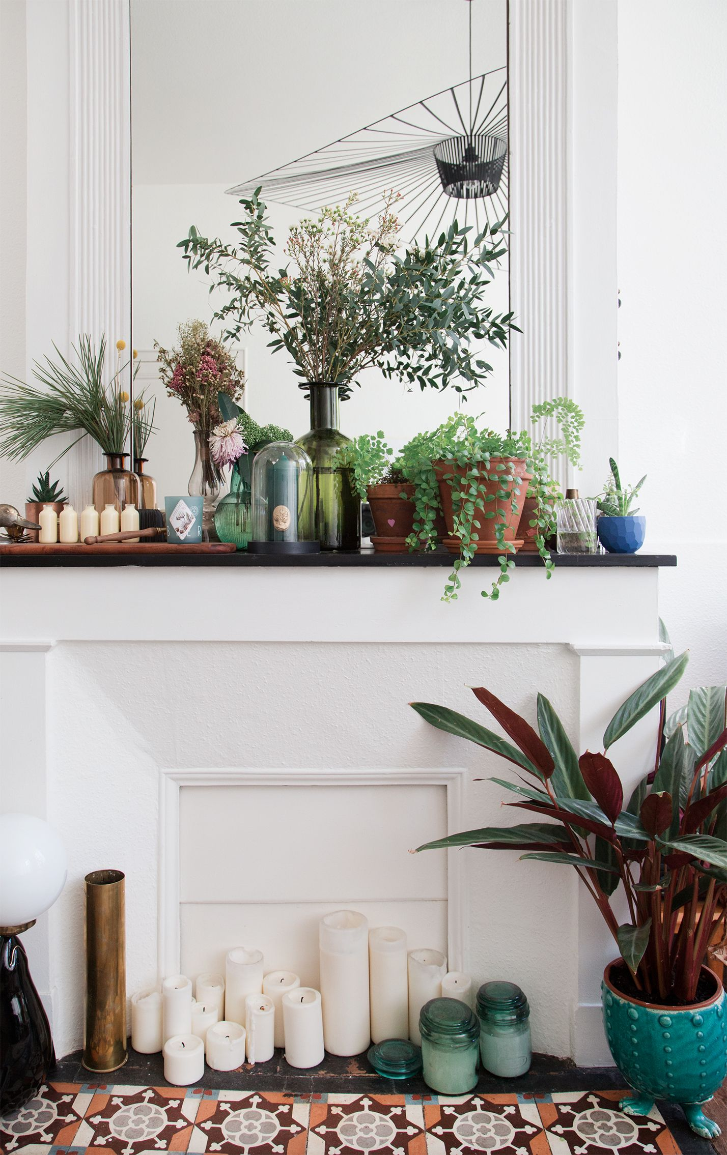 The plants, the fireplace, the tile \u2014 obsessed! | DECO | Pinterest ...