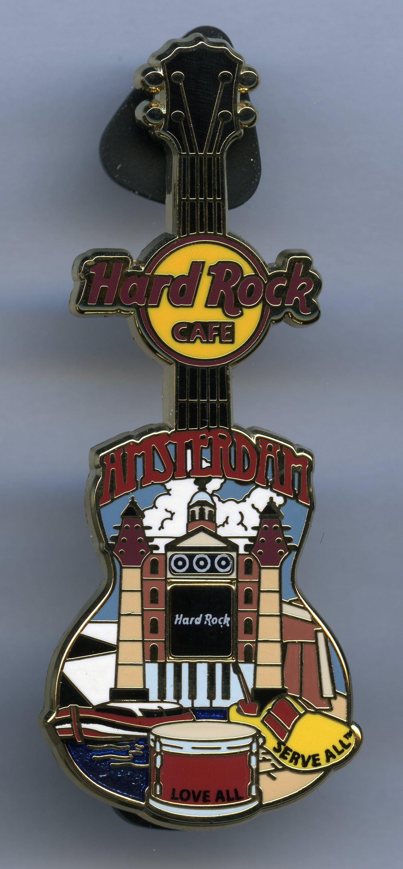 Amsterdam Hard Rock Cafe Guitar Pin Hard Rock Cafe Hard Rock Music Items