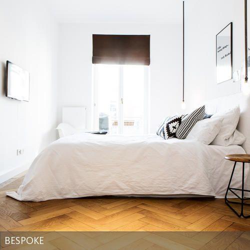Bett | Schlafzimmer weiß, Eiche und Bett