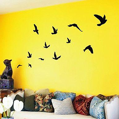 Adesivos Artísticos para Parede Revoada de Pássaros – BRL R$ 35,15