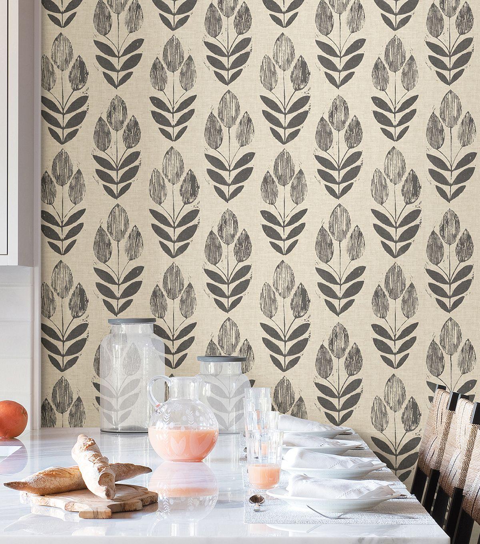 WallPops NuWallpaper Peel & Stick Wallpaper Folk Tulip