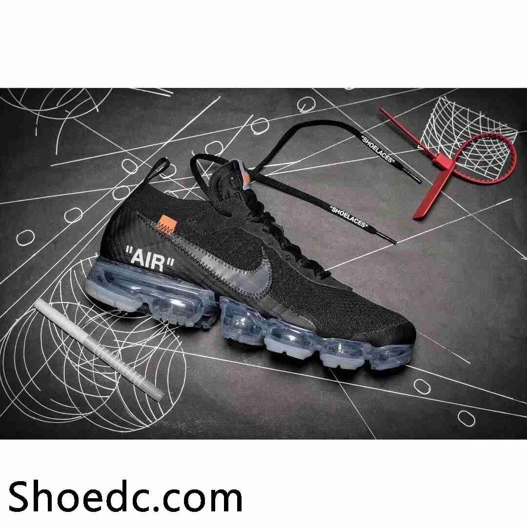 OFF WHITE x Nike Air VaporMax 2018 OW 2.0 Flyknit Black Women Men ... 6319c8f5b