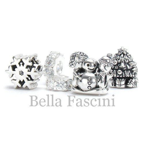 Zable 925 Sterling Silver Snowman Bead Fits All Charm Bracelets