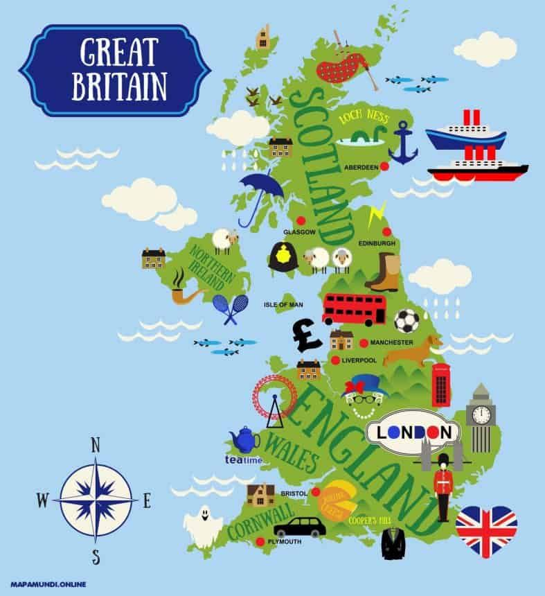 Mapas Del Reino Unido De Gran Bretaña E Irlanda Norte Para Descargar Mapa Del Reino Unido Mapa De Gran Bretaña Mapa De Inglaterra