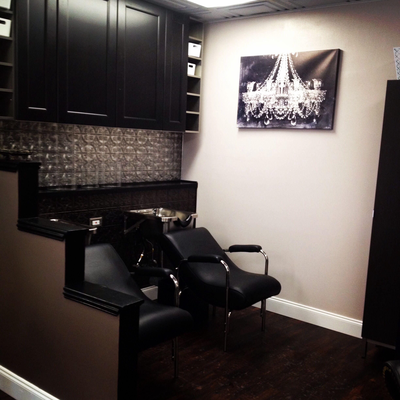 Shampoo area | Our salon | Pinterest | Salons, Salon ideas ...
