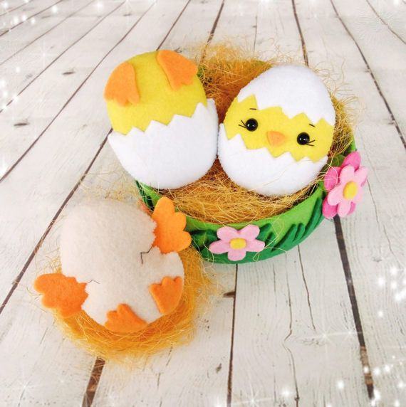Easter chick in egg ornaments easter gifts for children birthday easter chick in egg ornaments easter gifts for children birthday decorations easter eggs personalized nursery decor negle Choice Image