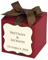 100 Wedding Favors Boxes COLORS Linen (Lg Sq)