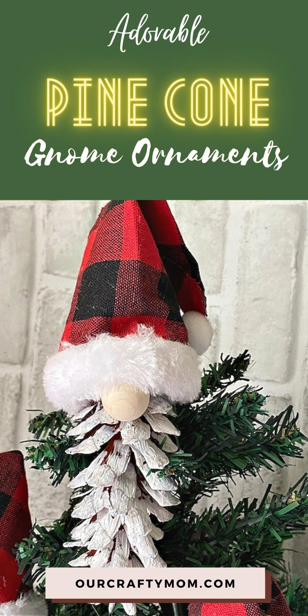 How To Make Adorable Christmas Gnome Pine Cone Ornaments Video Video Christmas Crafts For Gifts Christmas Ornaments Pine Cone Crafts