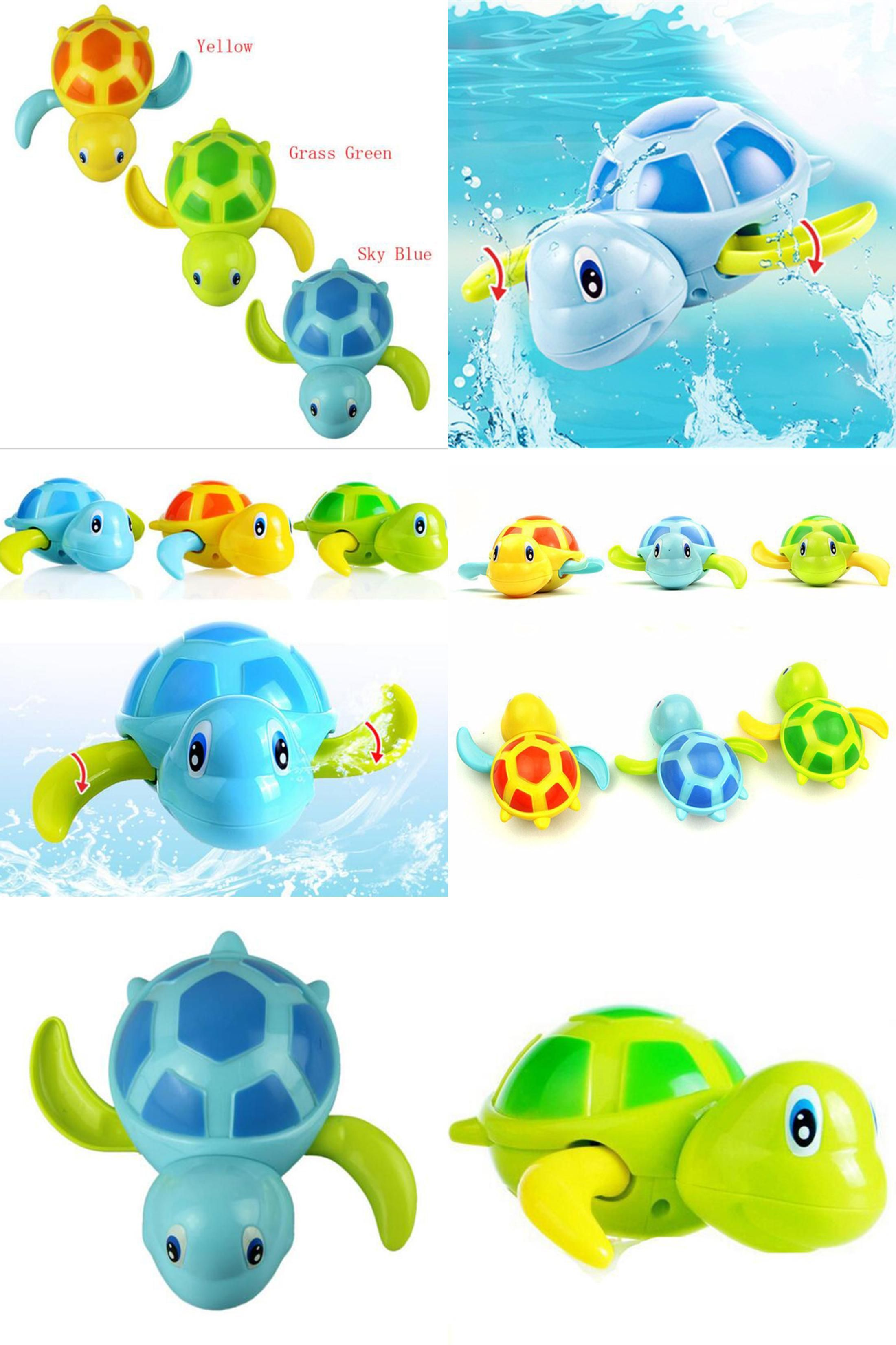 Visit to Buy] Fahsion Baby Bath Swimming Toy Turtle Wind Up