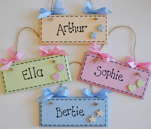 New Baby Gifts Name Plaques Wall Hangers Keepsakes