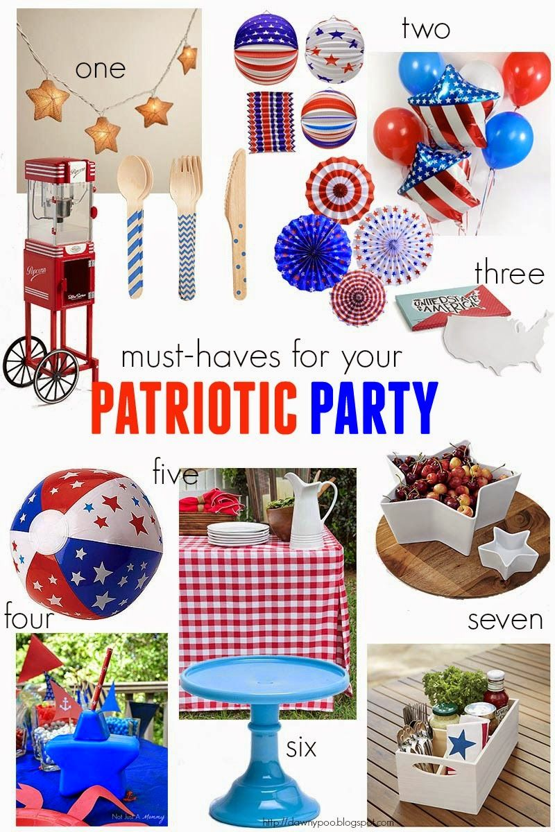 Must-Haves For Your Patriotic Party