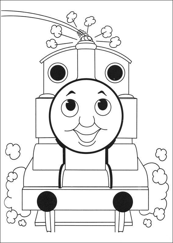 Coloring Page Thomas The Train Thomas The Train Train Coloring