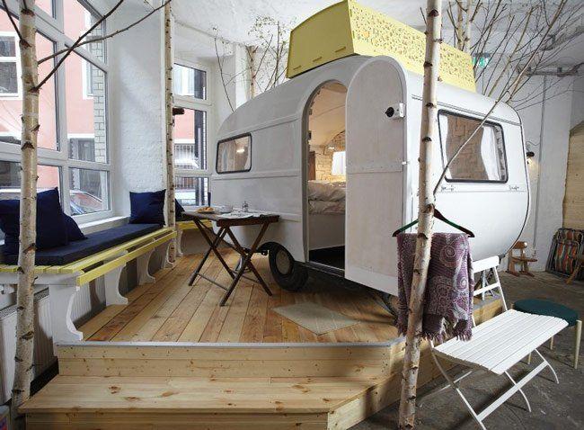 Curioso hotel de caravanas en berlín