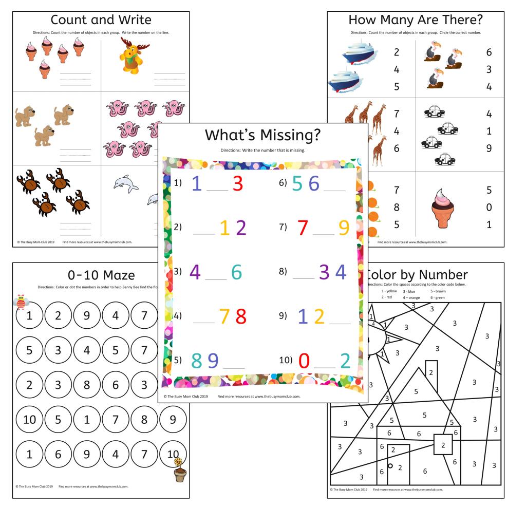Free Printable Preschool Math Mini Pack