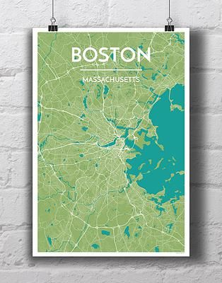Shop for City Map Prints and Map Art prints of the United States