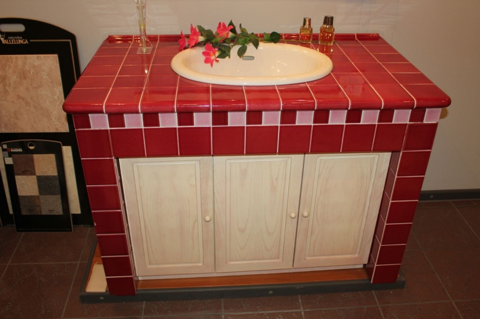 Publicdiscount stock bagno in muratura rosso