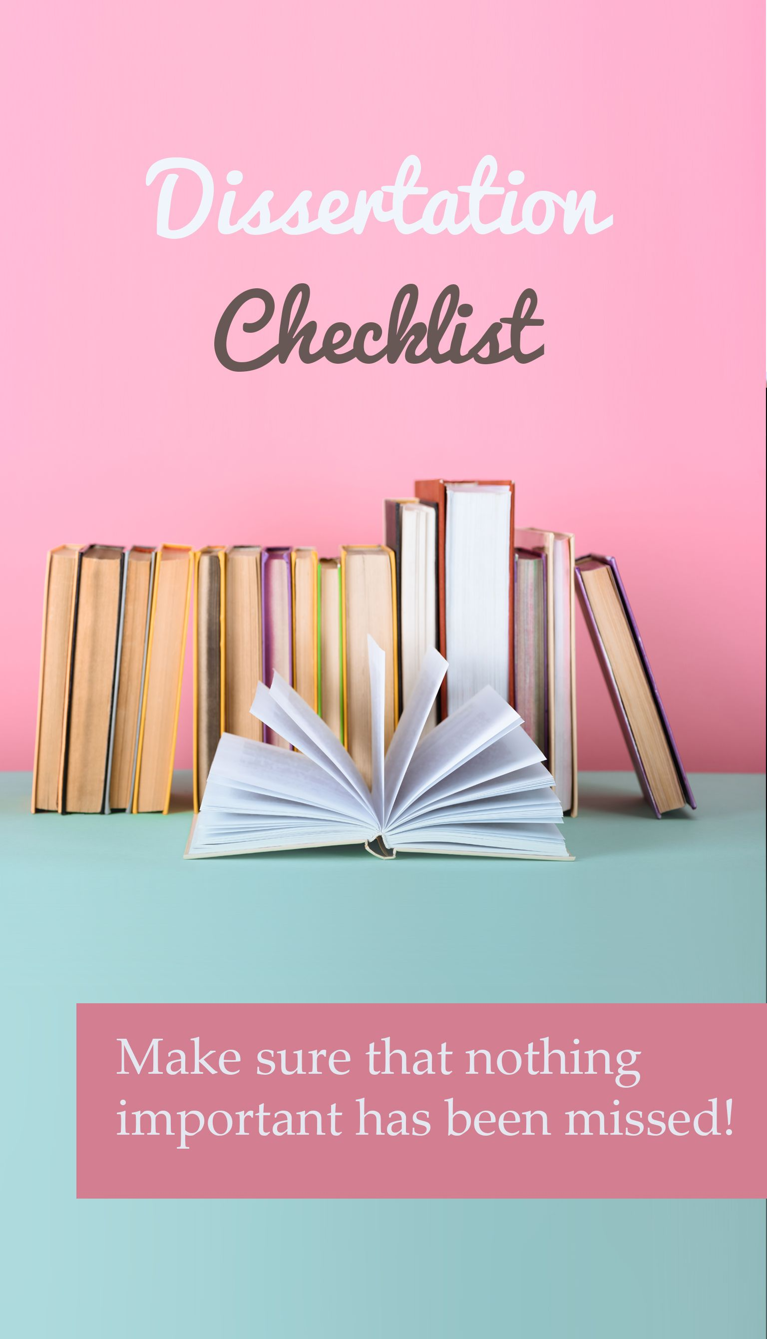 Dissertation Checklist Writing Thesi Your In Education