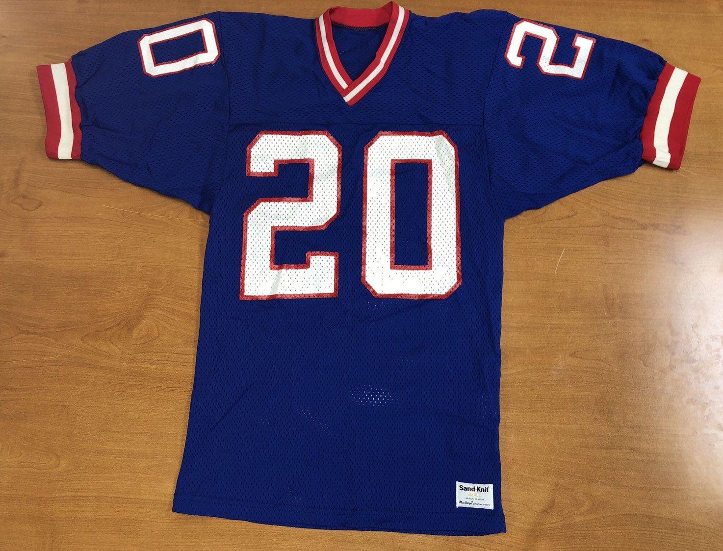 Vintage 1987 Jim Morris New York Giants Sand Knit Jersey Super Etsy In 2020 New York Giants Jersey New York Giants Vintage New York