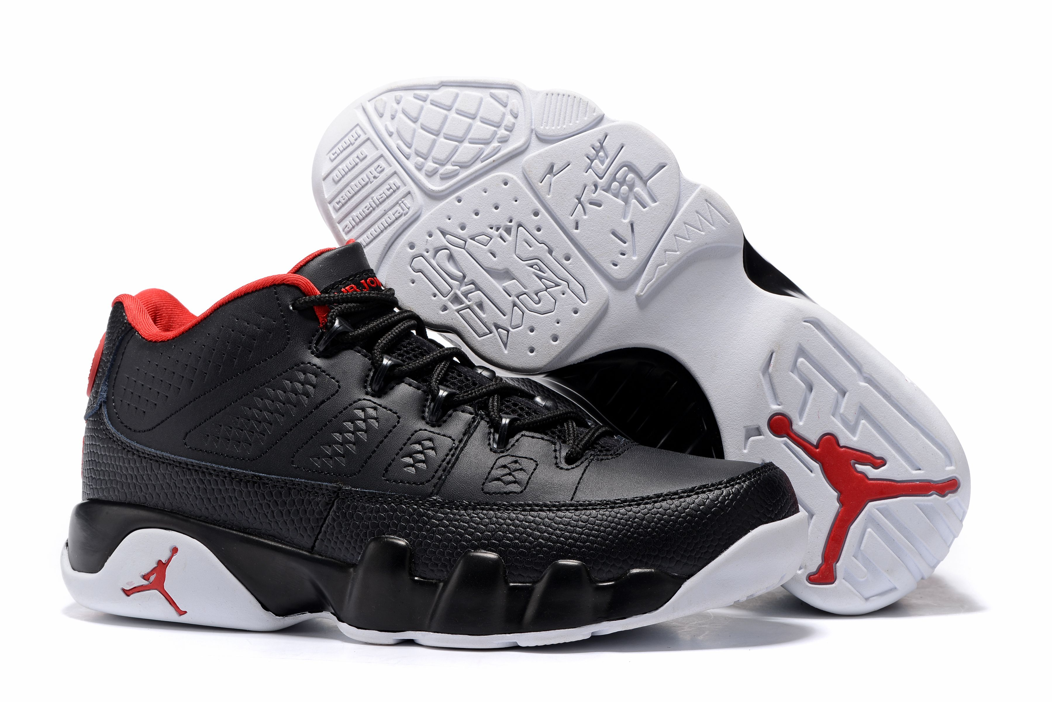 "Air Jordan 9 Retro Low ""Bred"" Black/Gym"