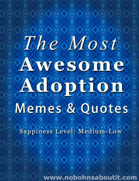 The Most Awesome Adoption Quotes and Memes #adoptionquotes