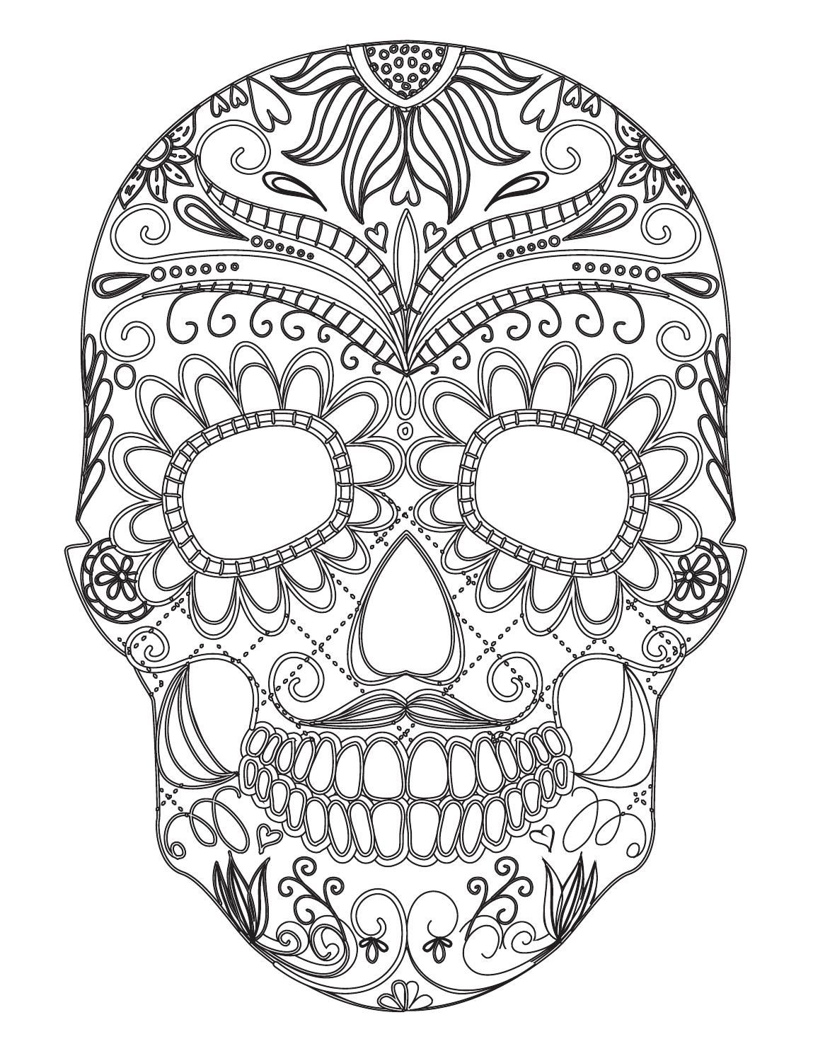 Arteterapie Vysmate Lebky Skull Coloring Pages Love Coloring Pages Coloring Books