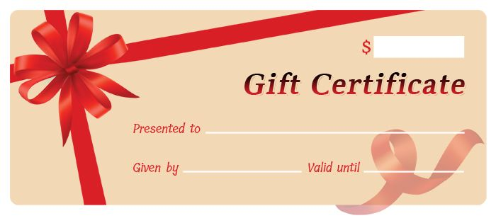 Gift Certificate Template for MS Word DOWNLOAD at