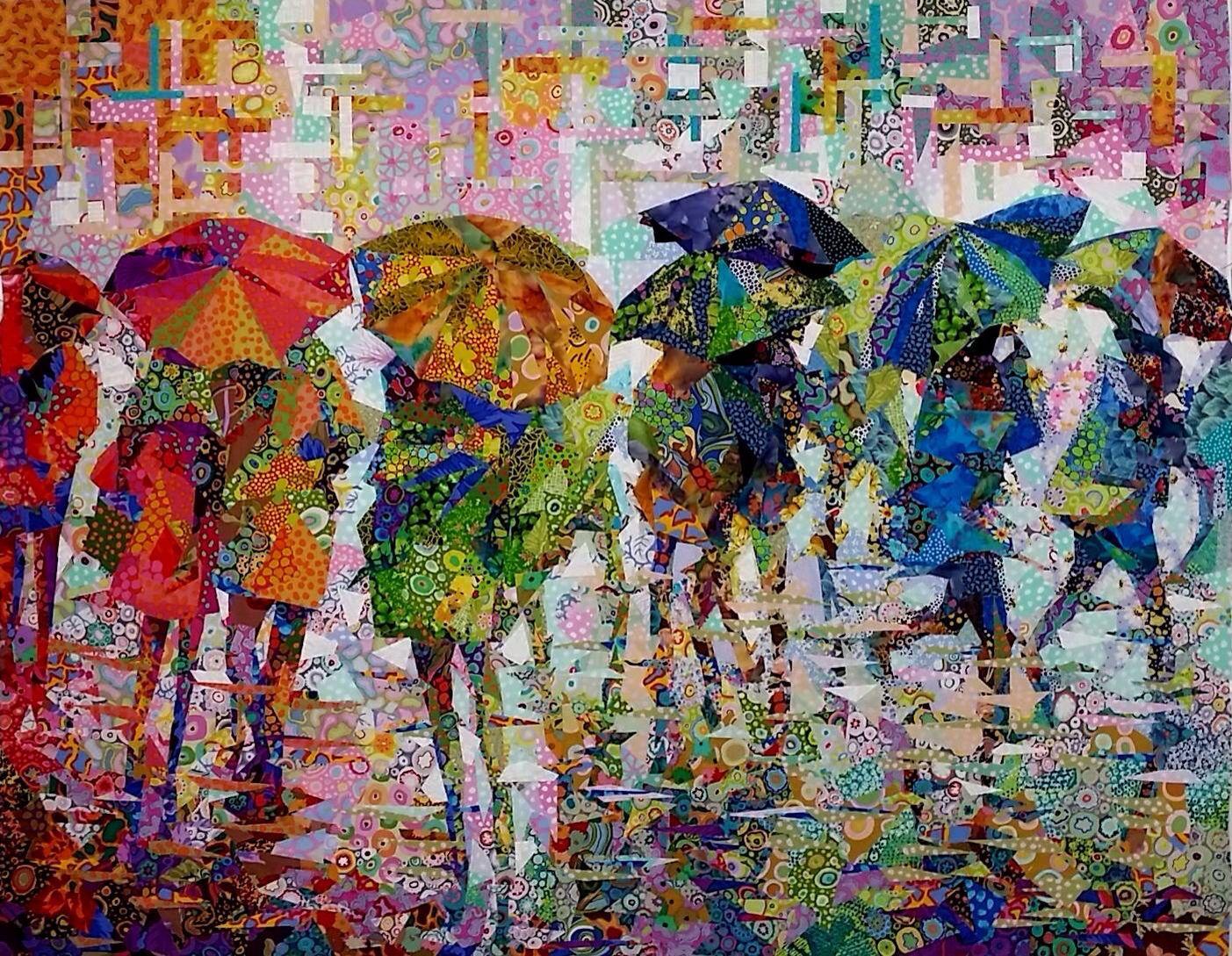 Rain Ii Danny Amazonas Art Quilts Pinterest Rain