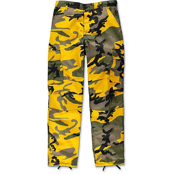 72a5a1b50c4 Rothco BDU Stinger Yellow Camo Cargo Pants ( 50) ❤ liked on Polyvore  featuring pants