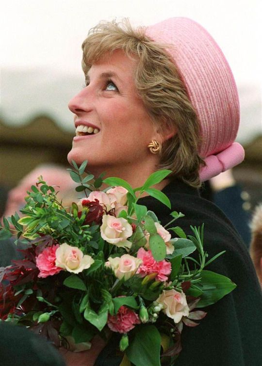 """Diana adored pillboxes - and she liked to wear them as Jackie Kennedy did, on the back of her head, to show her thick fringe. She once asked me: 'Do you think one day, people will think of me as the Jackie Kennedy of my day?'""  -Philip Somerville"