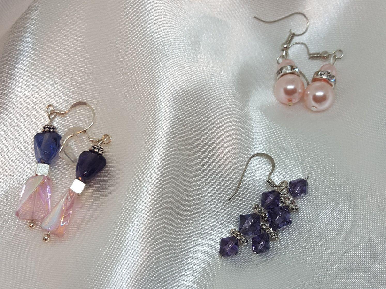 Earring Set of 3, Whimsical Earrings
