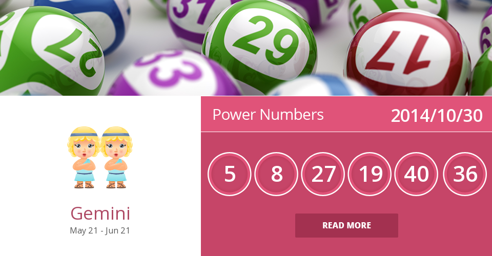 Gemini lucky numbers for 2014/10/30. Are they accurate? Pin=Yes | Favorite=No