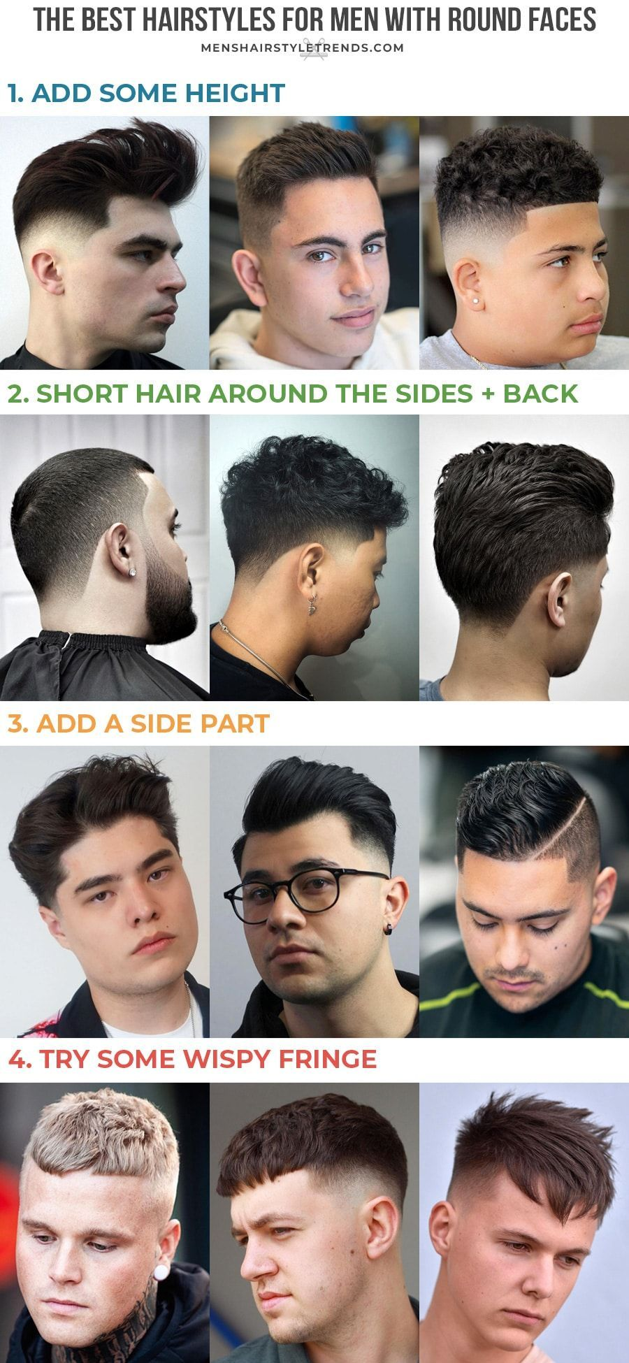 Best Hairstyles For Round Faces For Men Best Hairstyles Round Face Men Hairstyles For Round Faces Cool Hairstyles