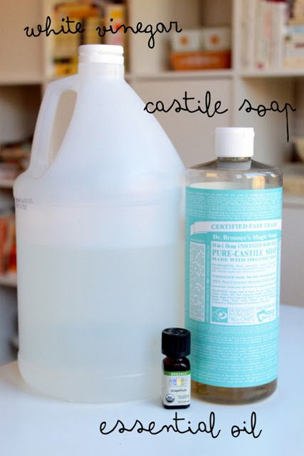 Diy All Purpose Cleaner Spray Bottle 1 C White Vinegar 2 T