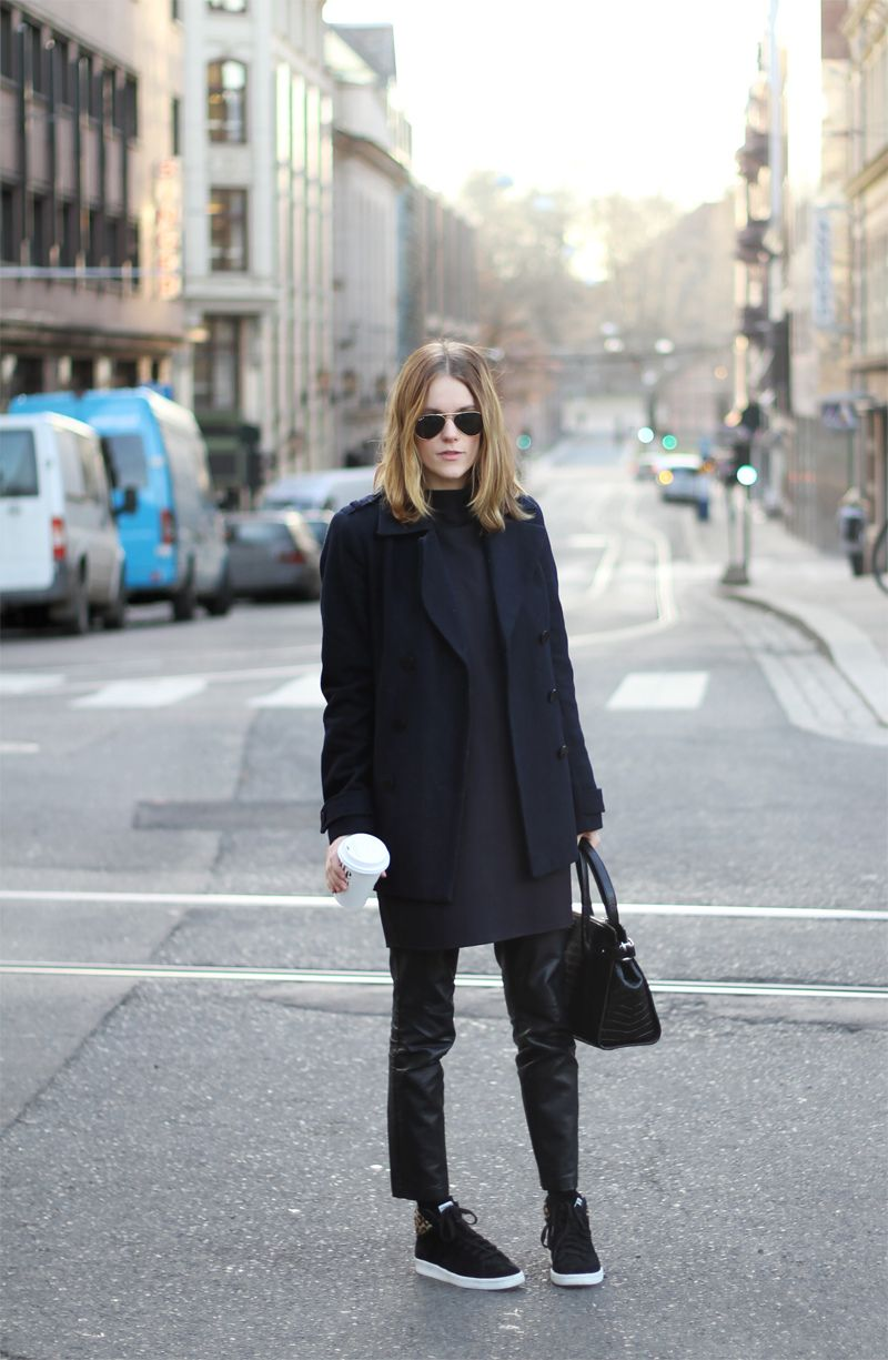 Outfit | Dress and leather pants - sarastrand
