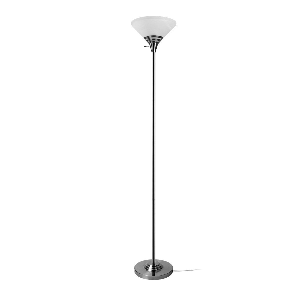 Oneach modern torchiere floor lamp 150 watt light 705 inch with oneach modern torchiere floor lamp 150 watt light 705 inch with frosted white alabaster mozeypictures Gallery