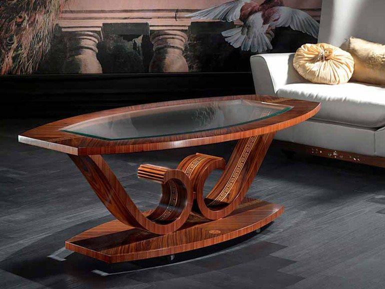 Tavolino ovale da salotto LE VOLUTE Tavolino
