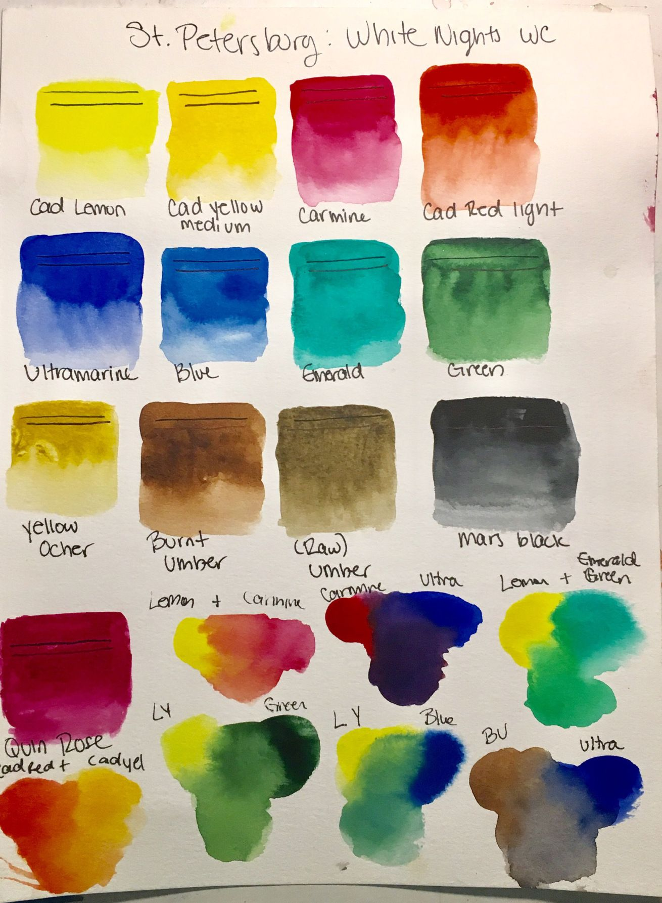 Paint Review St Petersburg White Nights Watercolors