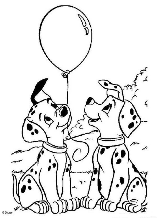 Color this adorable 101 dalmatians coloring page of Puppies with ...