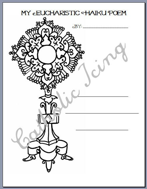 Download Free png Holy Eucharist / First Communion Catholic Coloring Page |  bordado ... - DLPNG.com | 648x505